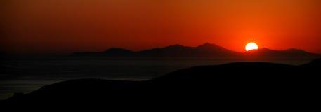 заход солнца панорамы Стоковое Изображение