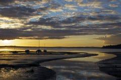 Заход солнца парусника Новой Зеландии Стоковая Фотография RF