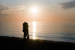 заход солнца пар предпосылки Стоковые Изображения RF