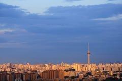 заход солнца Пекин стоковые фотографии rf