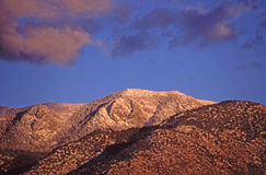 заход солнца пикового sandia южный стоковая фотография