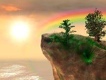 заход солнца плащи-накидк Стоковое Фото