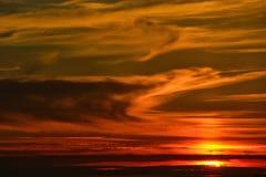 Заход солнца пляжа в Португалии стоковое фото rf