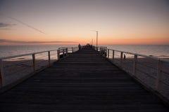 Заход солнца пляжа Henley Стоковое фото RF