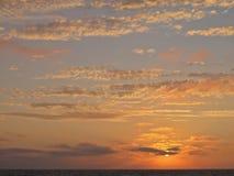 Заход солнца, пляж Torrance, Лос-Анджелес, Калифорния Стоковое Изображение