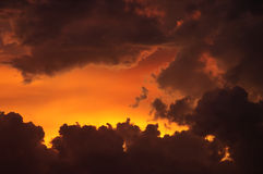 заход солнца пожара стоковые фотографии rf