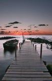 заход солнца поздним летом Стоковое Фото