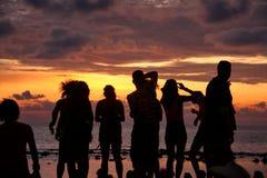 Заход солнца полнолуния стоковая фотография rf