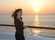 заход солнца портрета Стоковая Фотография RF