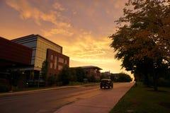 Заход солнца после дождя Стоковые Фотографии RF