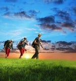 заход солнца похода Стоковое Фото
