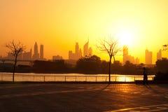 заход солнца празднества Bay City Стоковые Фото