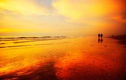 заход солнца предпосылки Стоковое Изображение