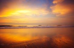 заход солнца предпосылки Стоковая Фотография RF