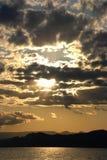 заход солнца предпосылки Стоковое Изображение RF