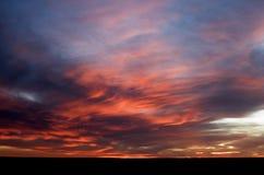 заход солнца прерии Стоковое Изображение