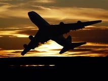 Заход солнца принимает  стоковая фотография rf