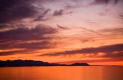 заход солнца пролива de fuca juan Стоковое Изображение