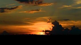 Заход солнца промежутка времени сток-видео