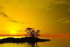 заход солнца пункта Кипра Стоковое Изображение