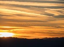 Заход солнца пустыни Аризоны стоковое фото