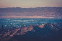 Заход солнца пустыни над Palm Springs Стоковое Изображение