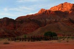 заход солнца пустыни скал Стоковые Фото