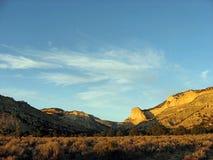 заход солнца пустыни Стоковая Фотография RF