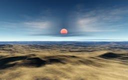 заход солнца пустыни бесплатная иллюстрация