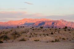 заход солнца пустыни стоковое изображение rf