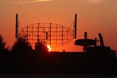 заход солнца радиолокатора Стоковое Изображение RF