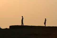заход солнца развода стоковое фото rf