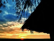 Заход солнца расцветки Стоковое Изображение RF