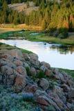 заход солнца реки Монтаны bighole Стоковые Изображения RF