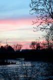 Заход солнца реки Boise Стоковое фото RF