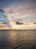 заход солнца реки florida индийский Стоковое Изображение RF