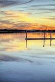 заход солнца реки hdr Стоковые Фотографии RF