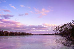заход солнца реки murray Стоковая Фотография RF