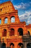 Заход солнца Рима Colosseum стоковые фотографии rf