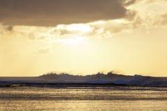 Заход солнца рифа, Кауаи, Гаваи Стоковое фото RF