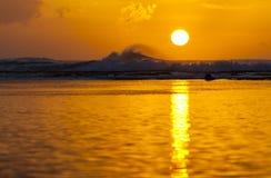 Заход солнца рифа, Кауаи Стоковое Изображение RF