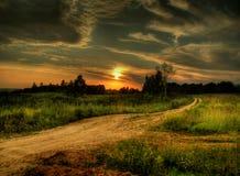 заход солнца России стоковые фотографии rf