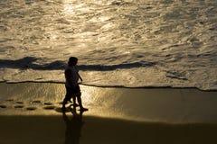 заход солнца руки Стоковая Фотография RF