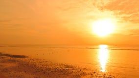 заход солнца рыболовства шлюпки Стоковое Фото
