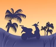 заход солнца самоката бесплатная иллюстрация