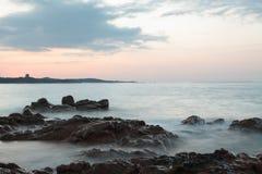 заход солнца Сардинии Стоковые Фотографии RF