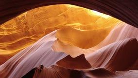 Заход солнца скалистой горы в каньоне антилопы стоковое изображение