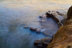заход солнца скал Стоковые Изображения