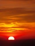 заход солнца славы Стоковое Изображение