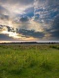 Заход солнца следа пустоши Стоковая Фотография RF